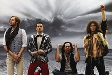 The Killers have recorded a Western song for Christmas. Photo / Supplied
