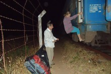Escaping from the Tazara in the dead of the night. Photo / Jill Worrall