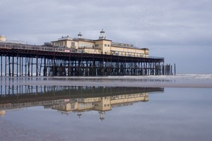 The fire destroyed most of the historical Hastings Pier. Photo / Thinkstock