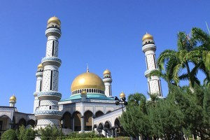 The Jame'Asr Hassanil Bolkiah Mosque in Brunei. Photo / Jim Eagles