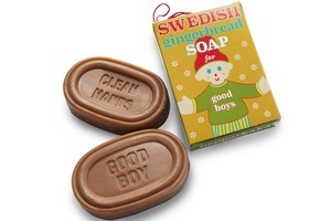 Swedish Gingerbread Soap for Good Boys (or Good Girls) and 'Clean Hands'. Photo / Supplied