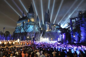 The success of Florida's Wizarding World of Harry Potter theme park attraction (pictured) has prompted Universal Studios to plan a second attraction based on J.K. Rowling's books - this one in Hollywood. Photo / Supplied