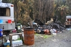 A generator exploded last night in Kumara, near Hokitika, as a woman was filling it. A shed was destroyed. Photo / Greymouth Star