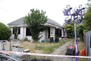 The residents of this property fear vigilante arson attacks. The property was searched by police looking for missing teenager Hayden Miles. Photo / NZ Herald