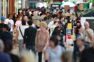Even at Sylvia Park Mall, Christmas shopping seems subdued. Photo / Steven McNicholl