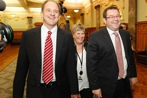 New Labour leader David Shearer and deputy leader Grant Robertson. Photo / NZ Herald