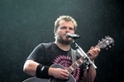 Tenacious D's Jack Black opens for the Foo Fighters in Western Springs. Photo / Richard Robinson.