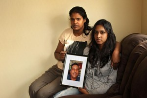 Kirin Singh and daughter Sonam remember Vineshwar Singh. Photo / Janna Dixon
