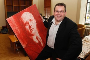 Grant Robertson will be giving pride of place to the picture of former Labour Prime Minister Peter Fraser. Picture / Mark Mitchell