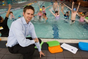 Richard Walker says around 270,000 children have learned to swim through the programme. Picture / Paul Estcourt