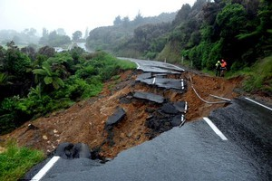 Councils are facing hefty bills for the repair of infrastructure such as roading in the aftermath of flooding and slips in the Nelson region. Photo / Supplied