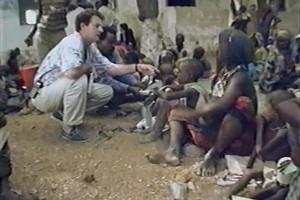 David Shearer, pictured here in 1992 in Somalia, has two decades of experience as a humanitarian aid worker. Photo / Mark McNeill