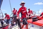 Crew onboard CAMPER with Emirates Team New Zealand during the Volvo Ocean Race 2011-12. Photo / Supplied
