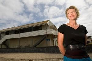 Theresa Stanley in front of the Mairangi Bay Surf Life Saving Club. Photo / Richard Robinson