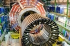 The magnet core of the world's largest superconducting solenoid magnet (CMS, Compact Muon Solenoid) at CERN's Large Hadron Collider (LHC) in Europe. Photo / AP