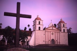 A roadtrip down California's Central Coast takes in Hearst Castle and the Spanish Mission at Santa Barbara, above. Photo / Supplied