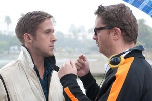 Ryan Gosling (left) with  Drive  director Nicolas Winding. Photo / Supplied