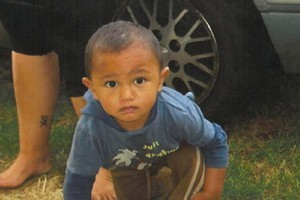 Two year-old JJ Ruhe Lawrence of Takitimu St, Orakei, died a violent death. Photo / Supplied