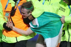 A teen who tried to streak at the Rugby World Cup Russia/Ireland match in Rotorua has been named. Photo / File