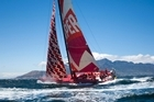 Emirates Team New Zealand finish leg one of the Volvo Ocean Race in Capetown. Photo / Chris Cameron