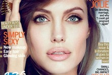 Angelina's Marie Clare cover. Photo / Marie Clare