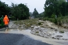 Beatsons Road in Nelson is one of many roads in the area that has been engulfed by a landslip. Photo / Chris Malcolm
