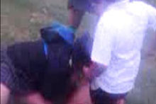 A picture from the video which shows the assault. Photo / TV3