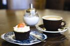 Cupcakes and coffee at Floriditas in Wellington. Photo / Pat Shepherd