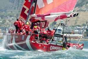 Camper in action during the Volvo Ocean Race. Photo / Team NZ