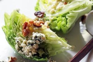 Iceberg, walnut and blue cheese salad. Photo / Doug Sherring