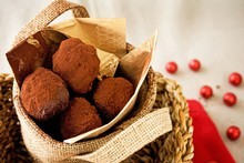 Chocolate chestnut truffles. Photo / Babiche Martens