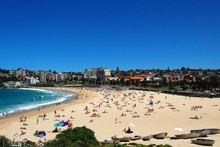 Sydney's Coogee Beach is ideal for families and for recreational swimming. Photo / Creative Commons image by Wikimedia user Mynameisben123