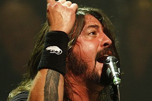Dave Grohl performs at the Town Hall earlier this year. Photo / Richard Robinson