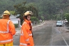 Homes in Nelson have been evacuated this afternoon as the rain continues to fall. Photo / Andrew Board/Nelson Weekly
