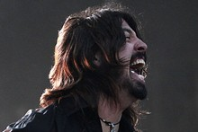 Dave Grohl rocks Western Spring with the Foo Fighters. Photo / Richard Robinson