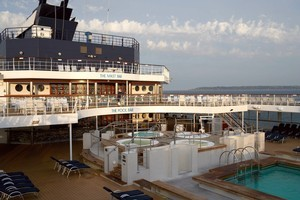 The Celebrity Century's pool deck. Photo / Supplied