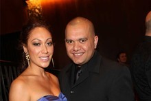 DJ Sir Vere with girlfriend Sarah Taiapa. Photo / Norrie Montgomery