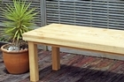 This sturdy do-it-yourself table could be just the thing for an al fresco Christmas lunch. Photo / Janna Dixon