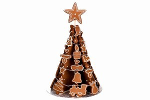 Artisan gingerbread Christmas trees are available from  Sebastian's Boutique Cafe for $98. Photo / Babiche Martens