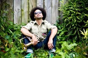DJ Isaac Aesili at his home in Kingsland. Photo / Dean Purcell