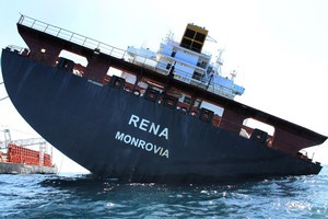 Bay of Plenty motels and holiday parks say the grouindin of the container ship Rena (pictured) has not affected holiday bookings. Photo / Maritime New Zealand