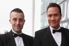 Tim Smith, left, and Tamati Coffey will wed after Christmas. Photo / Getty Images