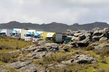 Sir Peter Jackson's The Hobbit is being filmed on private farmland near Middlemarch. Photo / Otago Daily Times