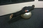 Planking might be fun and games for most, but it cost a Timaru man his job. File photo / supplied