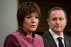 Former Education Minister Anne Tolley and Prime Minister John Key. Photo / Mark Mitchell
