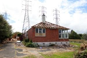 The house: Demolished.  Photo / Doug Sherring