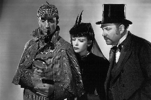 Basil Rathbone as Sherlock Holmes. Photo / File