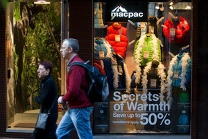 Macpac says its Christmas season has been strong. Photo / Richard Robinson