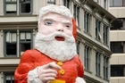 The Whitcoulls Santa on the corner of Queen and Victoria Streets in Auckland city has been named the creepiest Christmas ornament in the world. Photo / Dean Purcell.