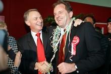 Labour MP David Shearer with Phil Goff. Photo / Janna Dixon